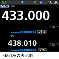 FM/DVの表示例